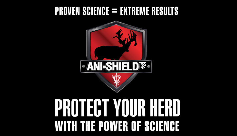 Ani-logics® Ani-Shield TX4® - Veterinarian formulated deer health pack and deer attractant in all the Ani-Logics® Products