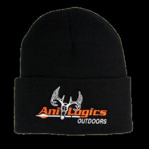 Ani-Logics Black Cuffed Stocking Cap