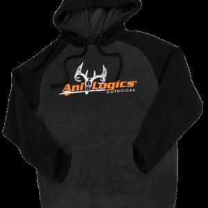 Ani-Logics Black and Dark Grey Hooded Sweatshirt
