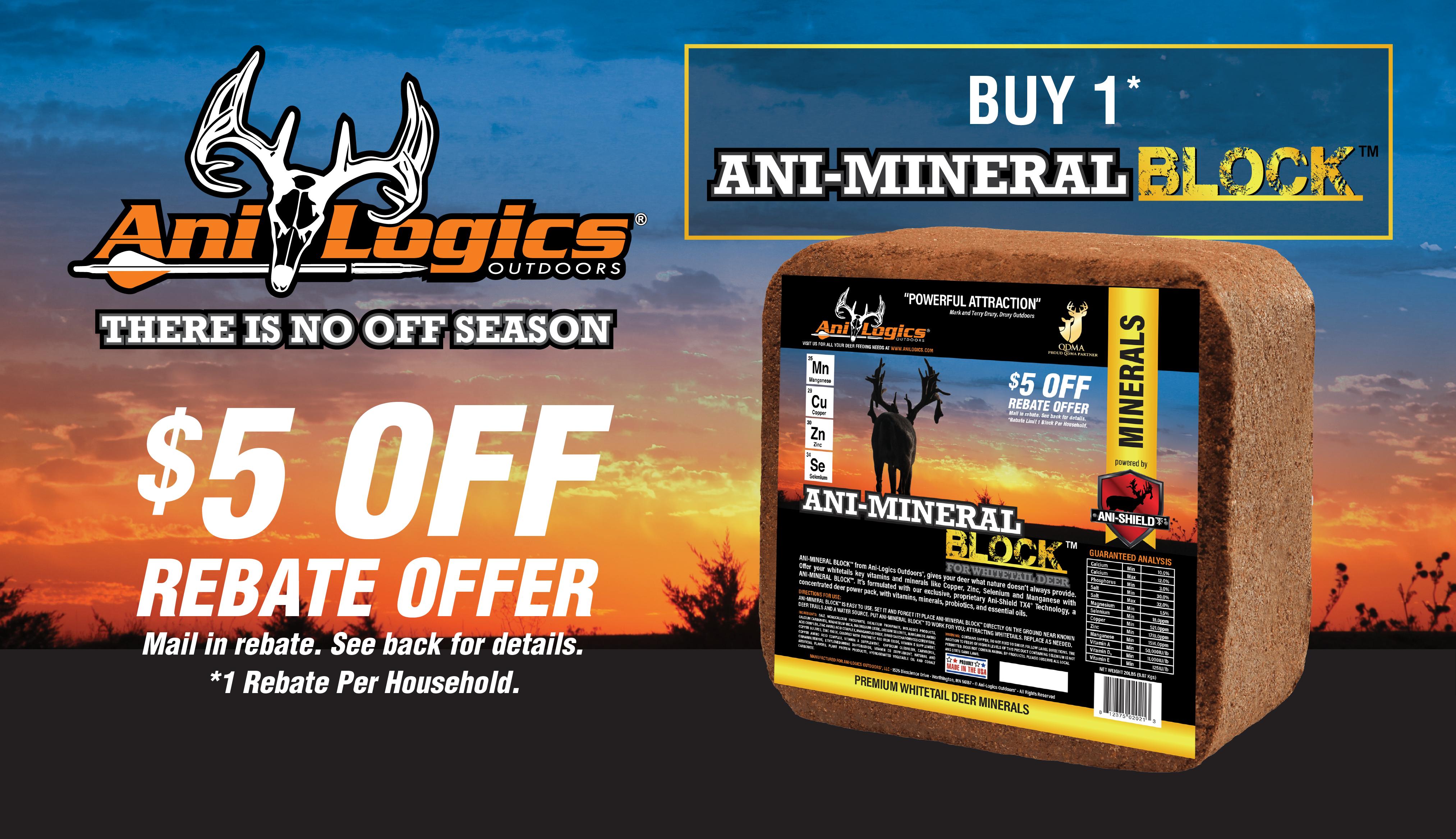 Ani-Logics™  $5 Rebate - Mineral