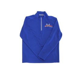 ani-logics blue mens quarter zip