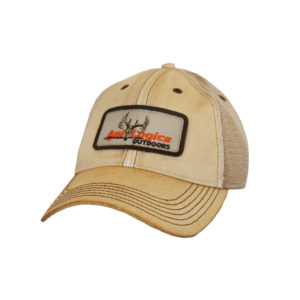 ani-logics dirty tan trucker hat
