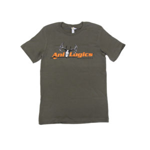 ani-logics military green t-shirt
