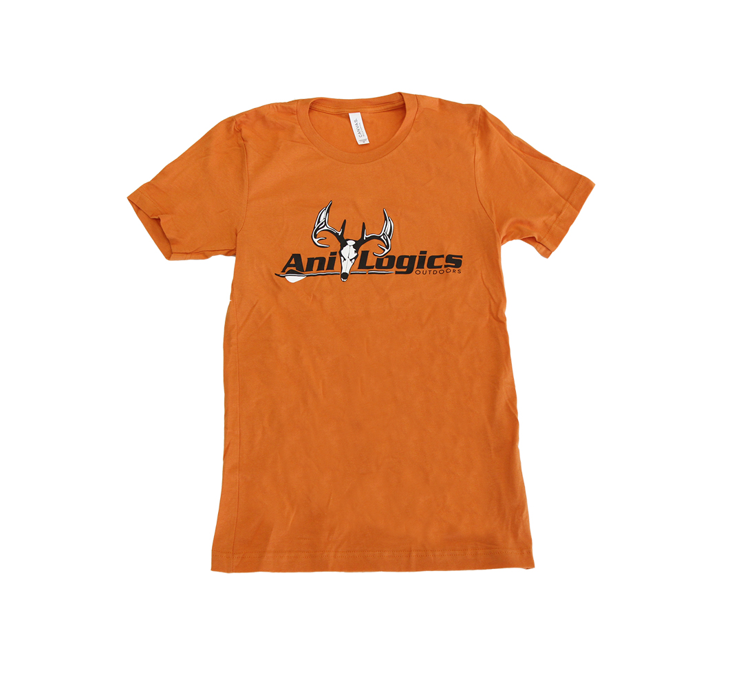 ani-logics orange t-shirt front